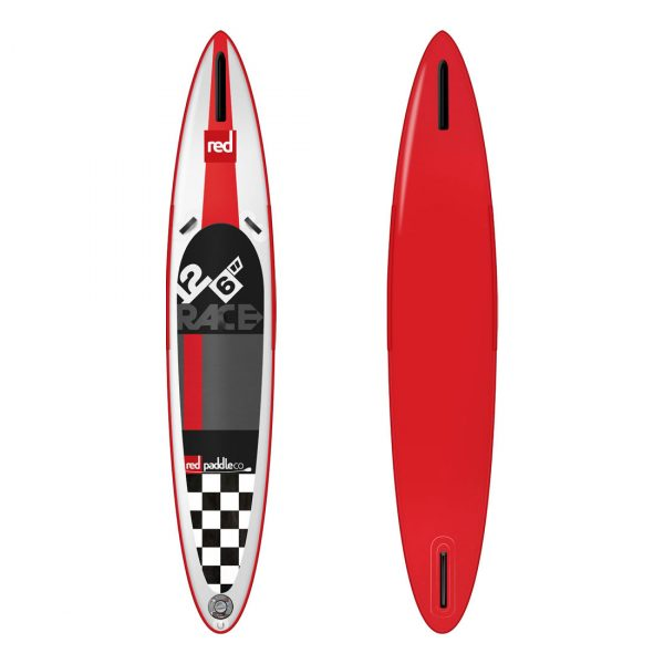 12ft 6in Race Red Paddle Co inflatable stand up paddle 2015