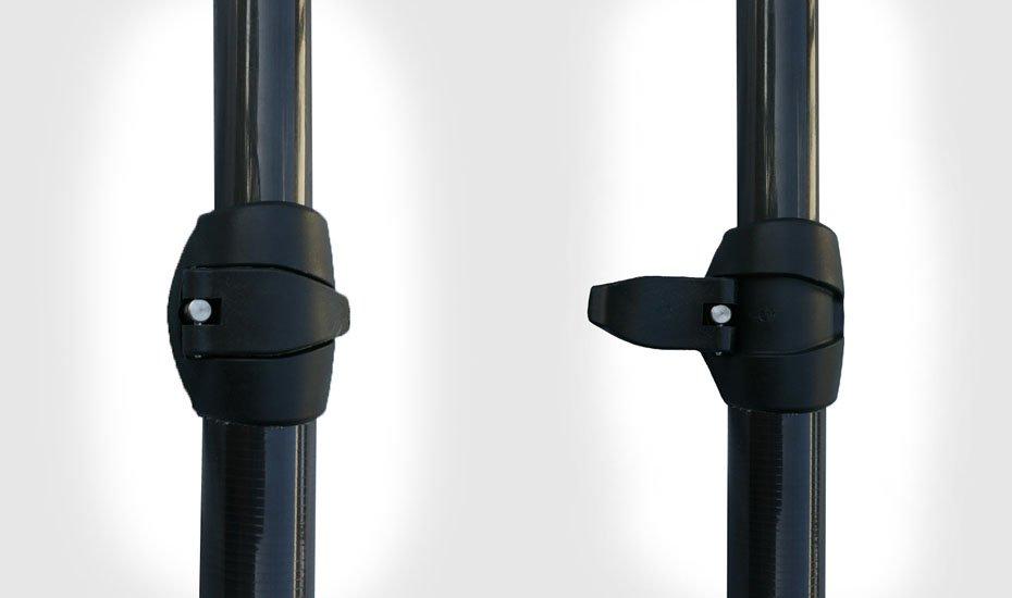Quick clamp adjustable paddle shaft by ke nalu green